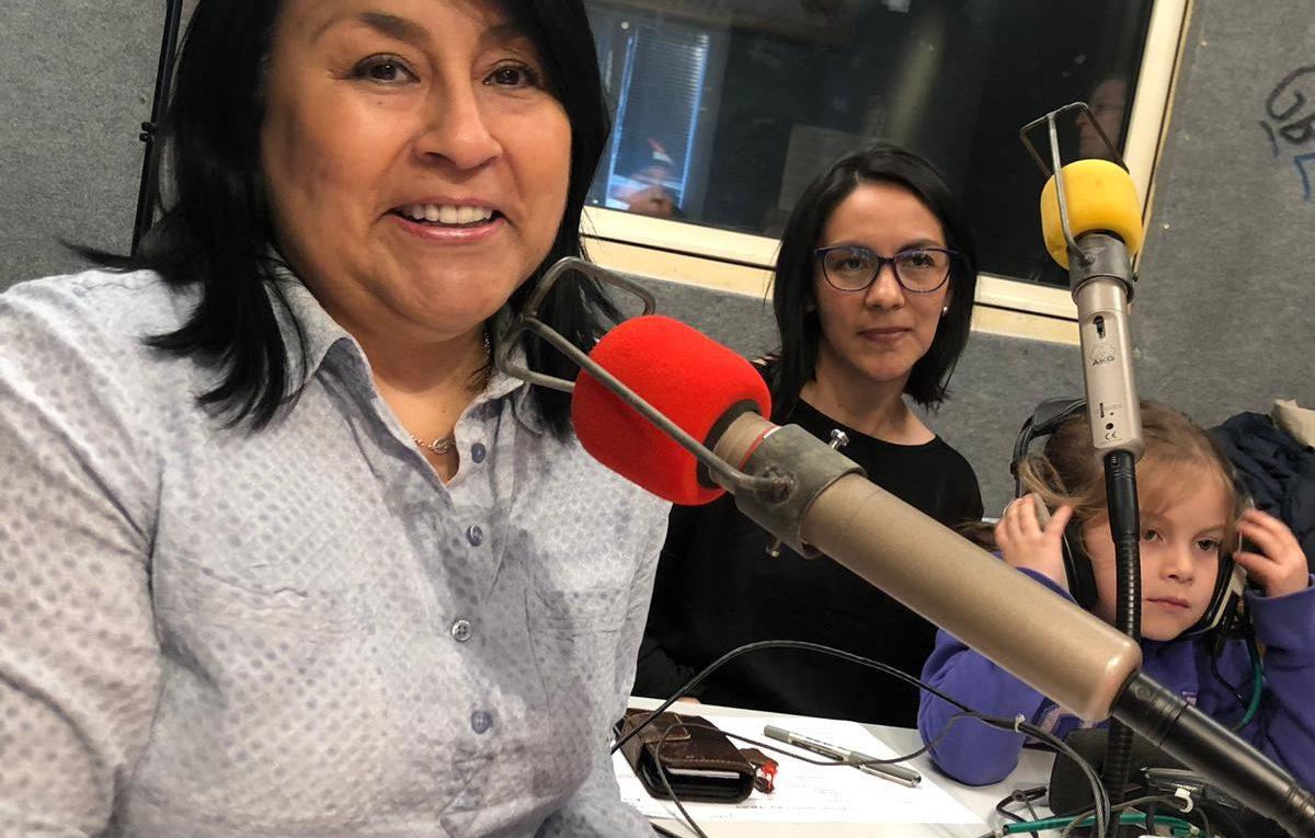 Magaly y Carolina durante la entrevista